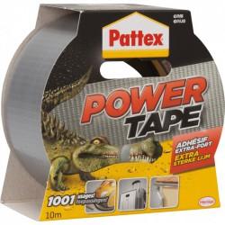 Adhésif super-puissant Power Tape de PATTEX - 10 m - Gris - Ruban adhésif fixateur - BR-215791