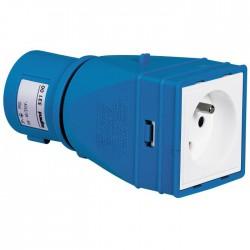 Adaptateur pour fiche brochage domestique vers brochage industriel - LEGRAND - Prises / Fiches / Adaptateurs - BR-101485
