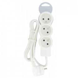 Rallonge 3 prises de courant - avec cordon 1,5 m - Blanc - LEGRAND - Multiprises et blocs parafoudre - BR-490119