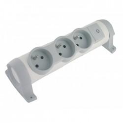 Rallonge avec bloc de prises pivotant - 3 prises - Sans cordon - LEGRAND - Multiprises et blocs parafoudre - BR-490110