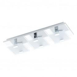 Réglette 33 spots LED - Acier et verre satiné - 405 x 135 x 65 mm - Vicaro - EGLO - Pour l'intérieur - BR-536785