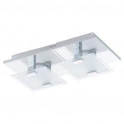 Réglette 2 spots LED - Acier et verre satiné - 270 x 135 x 65 mm - Vicaro - EGLO - Pour l'intérieur - BR-536784
