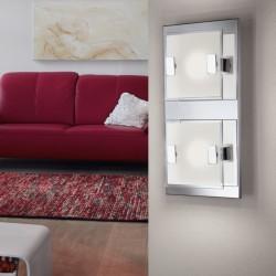 Spot LED - Acier et verre satiné - 135 x 135 x 65 mm - Vicaro - EGLO - Pour l'intérieur - BR-536783