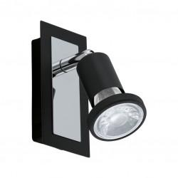 Spot LED - Acier chromé noir - 60 x 120 x 120 mm - Sarria - EGLO - Pour l'intérieur - BR-536777
