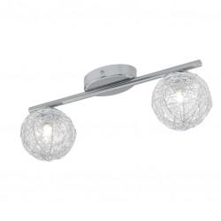 2 Spots design - Acier chromé - 360 mm - EGLO - Pour l'intérieur - BR-233150