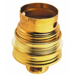 Douille B22 - avec bague - Sortie de câble latérale - Acier laitonné - 10 mm - LEGRAND - Douille pour ampoule B22 - BR-238449