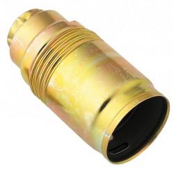 Douille E14 en acier laitonné - 10 mm - L'EBENOàD - Douille pour ampoule E14 - BR-825913