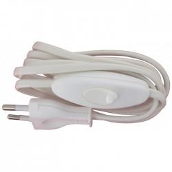 Cordon avec interrupteur pour équipement de lampe - Longueur 1,50 m - Blanc - LEGRAND - Interrupteurs luminaires - BR-113442