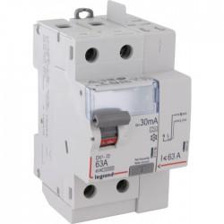 Interrupteur différentiel bipolaire - Type A 30 mA arrivée haut/départ haut 63 A - LEGRAND - Interrupteur différentiel - BR-1...
