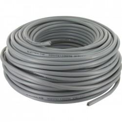 Couronne de 50 M - Gris - HO5 VV-F 2 x 1,5 mm² - ELECTRALINE - Fils et câbles électriques - BR-373311