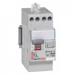 Interrupteur différentiel bipolaire - Type AC 30mA arrivée haut/départ haut 25 A - LEGRAND - Interrupteur différentiel - BR-1...