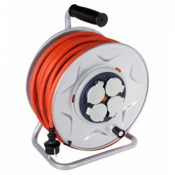 Enrouleur professionnel Moyeu fixe - 25 M - H07 RN-F 3G 2,5 mm² - DHOME - Enrouleurs - BR-243548