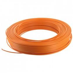 Câble d'installation H07V-U 2.5 mm² - 100 M - Orange - ELECTRALINE - Fils et câbles électriques - BR-373117