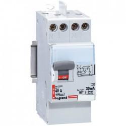 Interrupteur différentiel bipolaire - Type A 30 mA arrivée haut/départ bas 40 A - LEGRAND - Interrupteur différentiel - BR-13...