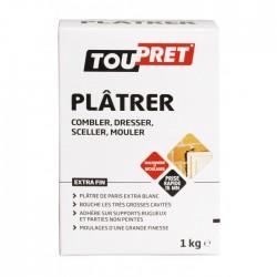 Plâtre fin de Paris - Blanc - 1 Kg - TOUPRET - Ciment et Plâtre - BR-565438