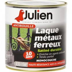 Laque métaux ferreux antirouille - Noir satiné - 500 ml - JULIEN - Antirouille - BR-687849