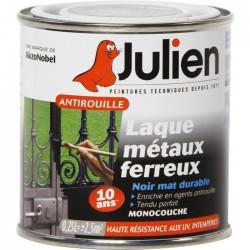 Laque métaux ferreux antirouille - Noir mat - 250 ml - JULIEN - Antirouille - BR-687847