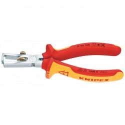Pince à dénuder isolée par gaines bi-matière - 160 mm - KNIPEX - Outil d'électricien - BR-571495