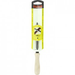 Lime tiers point pour scies - Angle vif - Manche en bois - Mi-douce - 100 mm - MOB - Limes et rapes - BR-207216