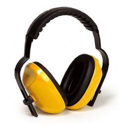 Casque Anti-bruit molettonné Jaune - 25 dB - EARLINE - Casques anti-bruit / Bouchons - SI-126561