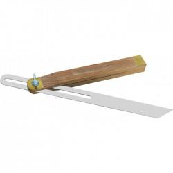 Fausse équerre avec talon en bois - 250 mm - OUTIBAT - Équerre / Compas de charpentier - BR-570000