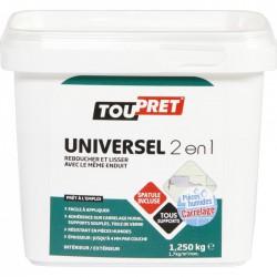 Enduit universel 2 en 1 - Lissage et rebouchage - 1.25 Kg - TOUPRET - Enduit universel / Multi-usages - BR-565457