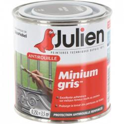 Primaire antirouille - Minium Gris - Protection anti-corrosion durable - 250 ml - JULIEN - Antirouille - BR-113638