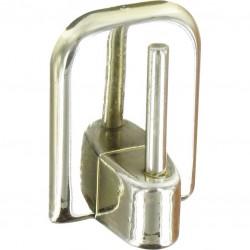 Support adhésif en plastique pour Tringle ovale - Chromé - Vendu par 4 - ATELIER 28 - Crochet et support adhésif - BR-267857
