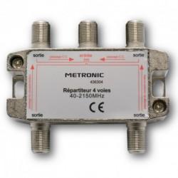 Répartiteur (blindé à connectique F) - 4 sorties - Etanche - METRONIC - Télévision - BR-108448