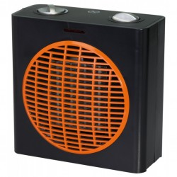 Radiateur soufflant 2000 Watts - Cube - Noir et Orange - VARMA - Radiateurs soufflant - BR-244047