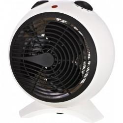Radiateur soufflant 2000 Watts - Sphère - Blanc et Noir - VARMA - Radiateurs soufflant - BR-244050