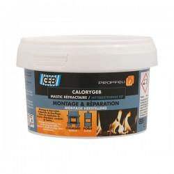 Mastic réfractaire CALORYGEB - Pour chauffage et cheminée - 300 Grs - GEB - Mastic maçonnerie - BR-000468