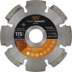 Disque diamentée polyvalent - Coupe à sec - 115 mm - SCID - Disque - BR-704129