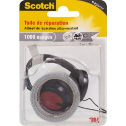 Toile adhésive de réparation - 3 M - Gris - SCOTCH - Ruban adhésif réparation - BR-469138