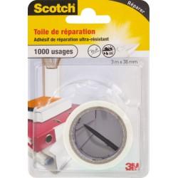 Toile adhésive de réparation - 3 M - Blanc - SCOTCH - Ruban adhésif réparation - BR-469137