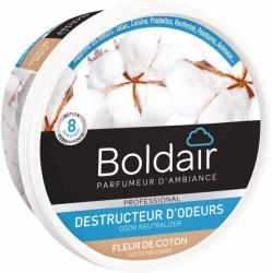Destructeur d'odeur - Fleur de coton - Gel solide 300 gr - BOLDAIR - Désodorisant - BR-608162