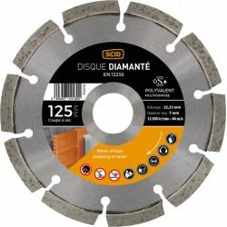 Disque diamentée polyvalent - Coupe à sec - 125 mm - SCID - Disque - BR-704130