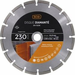Disque diamentée polyvalent - Coupe à sec - 230 mm - SCID - Disque - BR-704131