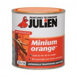 Primaire antirouille - Minium Orange - 0.5 L - JULIEN - Antirouille - DE-634477
