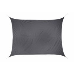 Voile d'ombrage rectangulaire Curacao - Gris - 3 x 4 M - HESPERIDE - Voile d'ombrage - JJ118893