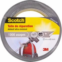 Toile adhésive de répéartion - Ultra-résistant - 1000 usages - 25 x 48 mm - SCOTCH - Ruban adhésif réparation - BR-469140