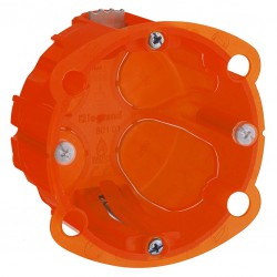 Boîte à encastrer Batibox multimatériaux - 1 poste profondeur 40 mm - LEGRAND - Boites d'encastrement et dérivation - 127132