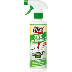 Tue rampants - Efficace et sur - Action rapide - 500 ml - FURY - Insectes rampants - BR-317506