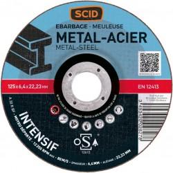Disque à ébarder - Usage intensif - Spécial métaux - 125 mm - SCID - Disque - BR-869875