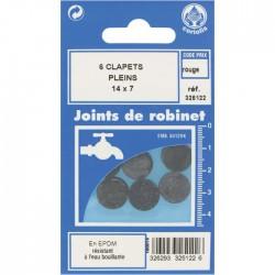 Joint Clapet plein Robinet - 14 x 7 mm - Lot de 6 - GRIPP - Joint clapet plein - BR-547441