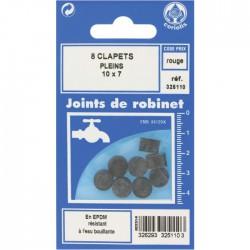 Joint Clapet plein Robinet - 10 x 7 mm - Lot de 8 - GRIPP - Joint clapet plein - BR-547387