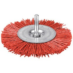 Brosse abrasive circulaire - Rouge - Nylon - 75 mm - SCID - Bande et patin abrasif - 1889