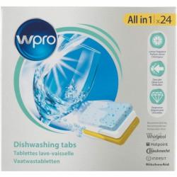 Abundo.fr | Nettoyage de lave-vaisellle - 24 tablettes - WPRO - Entretien de la cuisine - 12,90€