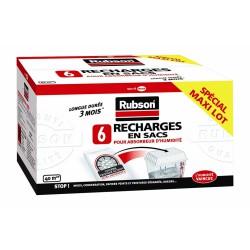 Recharges en sacs pour absorbeur d'humidité Classic - 6 sacs - RUBSON - Humidité / moisissures - BR-151386