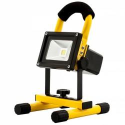 Projecteur LED portatif 120 ° et rechargeable - 10 Watts - AVIDE - Pour l'extérieur - DD-ZP7M-JBK9